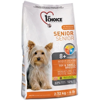 1st Choice (Фест Чойс) SENIOR TOY & SMALL Breeds - корм для собак мини пород от 8 лет (курица), 2.72кг