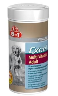 8in1 Excel MULTI VITAMIN Adult 70 шт - полноценный комплекс витаминов и минералов для взрослых собак