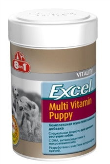 8in1 Excel MULTI-VITAMIN Puppy 100 шт - комплекс витаминов и минералов для щенков