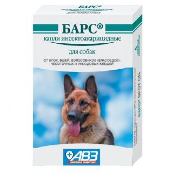 Барс капли для собак от блох и клещей, 1 амп