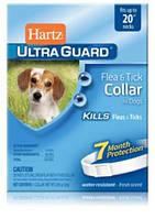Hartz (Хартц) Ultra Guard Flea&Tick Collar for Dogs, 51см - ошейник от блох и клещейдля собак на 7мес (белый)