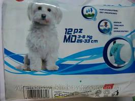 Подгузники для собак и кошек.Весом от 3 до 6 кг.. уп.12шт.