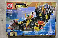 Конструктор пираты, корабль, фигурки, 345 детали тм Brick