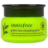 Крем-маска: увлажнение и питание кожи лица Innisfree, Green Tea Sleeping Pack (80 ml)