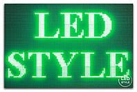 Зелёная светодиодная бегущая строка P 10 для уличного использования, фото 1