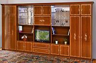 Стенка для гостиной классика Версаль 7 с двумя бельевыми шкафами и местом под TV, 4616*2260*610
