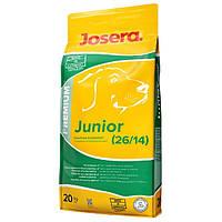 Josera (ЙОЗЕРА) Premium JUNIOR 26/14- корм для щенков и молодых собак, 20кг