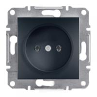 Розетка без заземления, антрацит - Schneider Electric Asfora