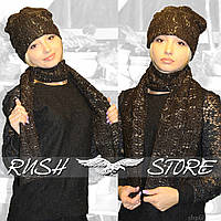 Набор шапка и шарф (шерсть)