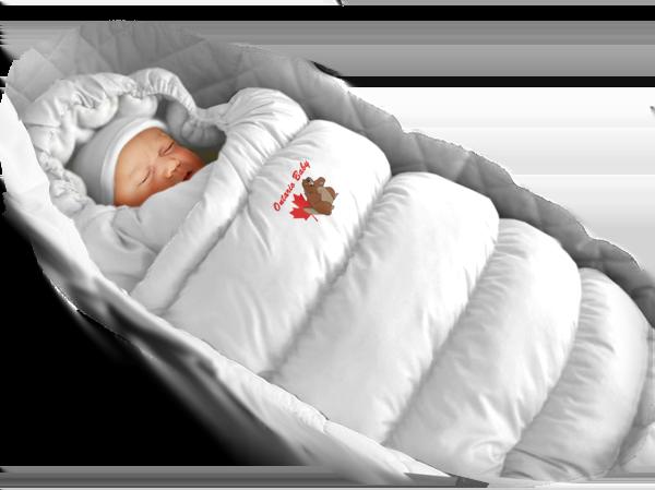 Пуховый конверт в коляску с меховой подкладкой Inflated, Ontario Baby