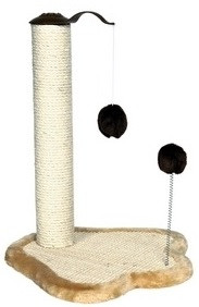 Trixie Когтеточка (дряпка) для кошки с меховым шариком, 50 см