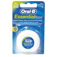Зубна нитка Oral-B Essential floss Waxed мятная 50 м (3014260280772)