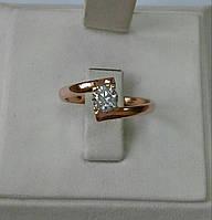 Помолвочное кольцо с фианитом, фото 1