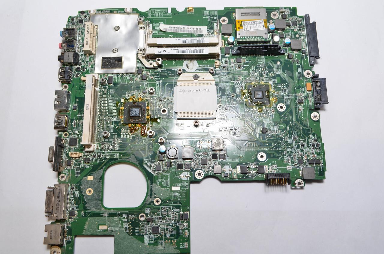 Материнская плата Acer Aspire 6530g (В нерабочем состоянии. Под восстановление или на запчасти.)