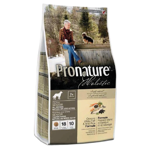 Pronature Holistic Dog Senior White Fish & Wild Rice 13.6 кг - холистик корм для собак от 7 лет (рыба/рис)
