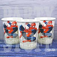 Бумажные стаканчики одноразовые Человек Паук,10 шт, фото 1