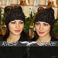 Зимняя женская шапка из шерсти