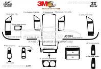 Декоративные накладки на панель приборов Peugeot Boxer 2006-2014 22 элем