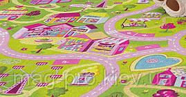 Детский ковер Sweet Town Милый город 2х3 для девочек, фото 3