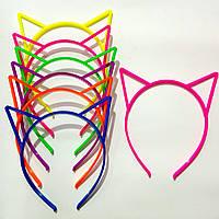 Обруч каучук цветной, кошачьи ушки. В упаковке 12шт. Цена 1шт - 11грн