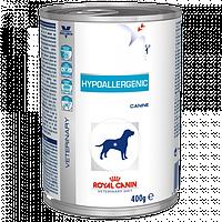 Royal Canin HYPOALLERGENIC cans - лечебный корм для собак при пищевой аллергии или непереносим, 400г