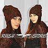 Тёплая женская шапка из шерсти