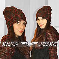 Тёплая женская шапка из шерсти, фото 1