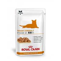 Royal Canin SENIOR CONSULT Stage 2 консервы - лечебный корм для котов старше 7 лет, 100г