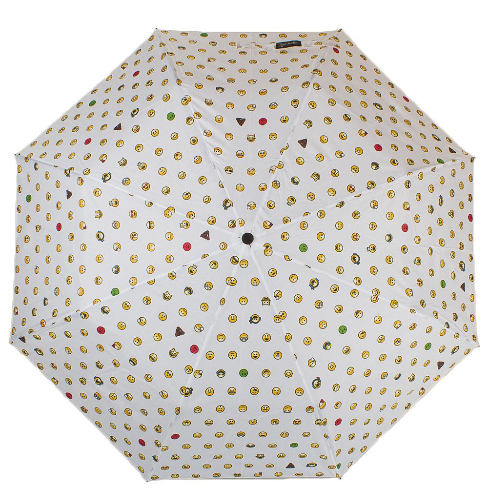 Женский зонт полуавтомат HAPPY RAIN U42276-2, белый