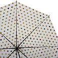 Женский зонт полуавтомат HAPPY RAIN U42276-2, белый , фото 3
