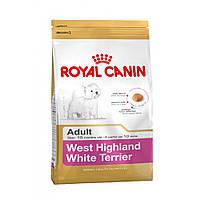 Royal Canin WEST HIGHLAND WHITE TERRIER Adult - корм для вест-хайленд-уайт-терьеров (вести), 3кг