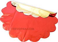 Салфетки для упаковки цветов красный металл 50 см (уп.100шт)