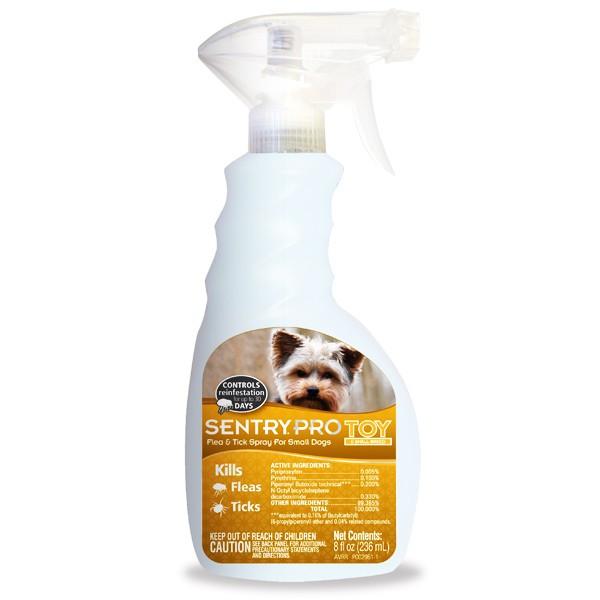 SENTRY PRO Toy Breed СЕНТРИ ПРО ТОЙ cпрей от блох и клещей для собак мини и малых пород, 236мл