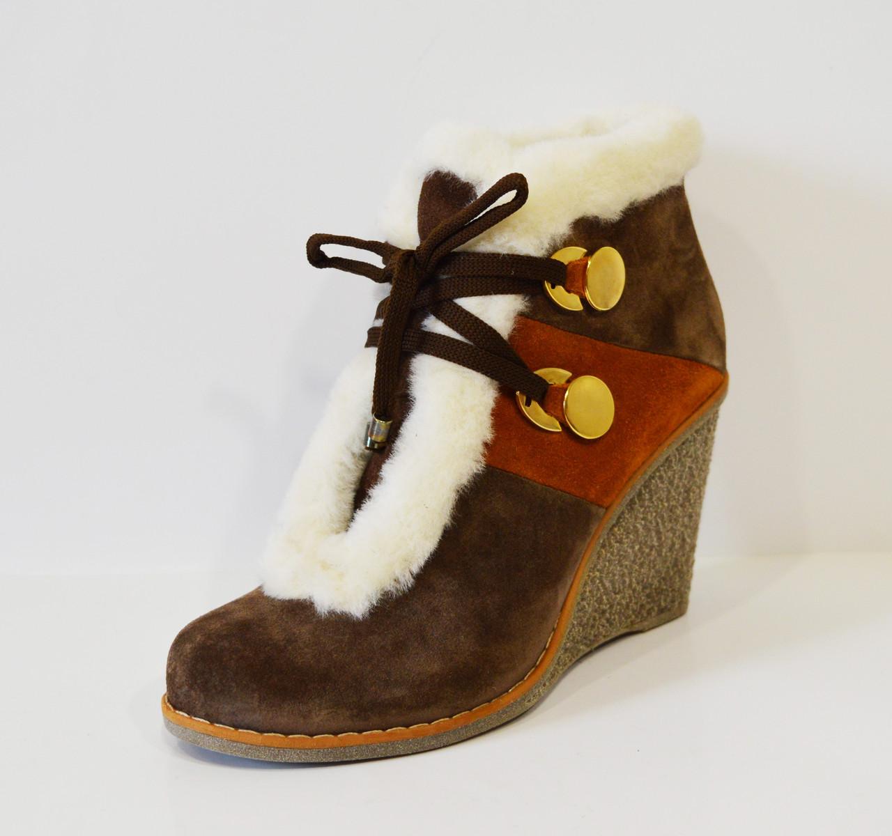 Ботинки коричневые зимние Fabriano 2635