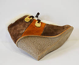 Ботинки коричневые зимние Fabriano 2635, фото 3