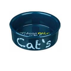 Trixiе (Трикси) Миска керамическая Cat's с контрастными надписями, 0.3л/12см