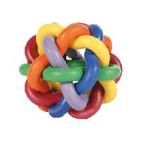 Trixie (Трикси) Мяч плетеный каучук - игрушка для собак, 10см