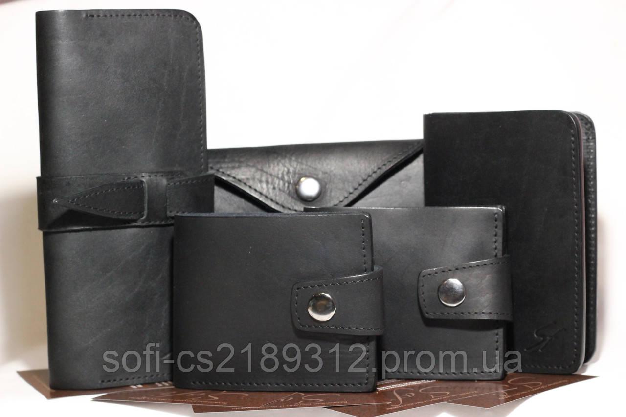 cb2502f0adde Черный кожаный кошелек, цена 500 грн., купить в Запорожье — Prom.ua  (ID#432279533)