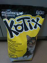 Селикогелевые наполнители для кошачьего туалета Kotix 3.8л