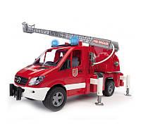 Детская игрушка пожарный МВ Sprinter с лестницей (+водяная помпа+свет и звук) Bruder 02532