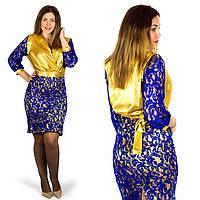 Синее платье 152052Б, большого размера