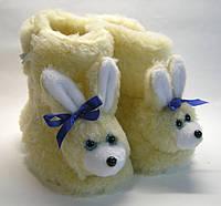 Сапожки меховые комнатные детские Зайчик