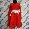 Платье гипюровое на девочку  DEVA. ПОЛЬША