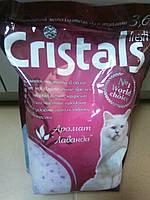Наполнитель кошачьего туалета Cristals c лавандой 3,6л