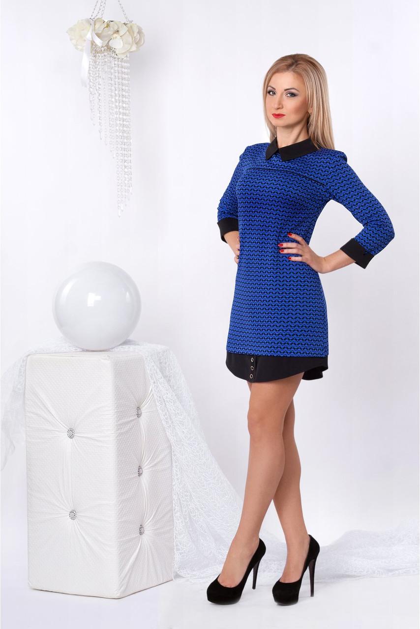 d7eee697642 Яркое молодежное платье интересного пошива с воротником от оптово ...