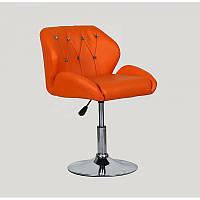 Кресло HC-949N в стразах  короткая база Для детей и взрослых, оранжевый