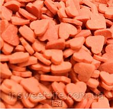 Конфетті цукрові сердечка червоні 0.2 кг/упаковка