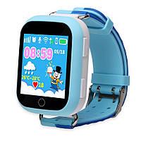 Детские часы с GPS трекером Q750 (оригинал) голубые