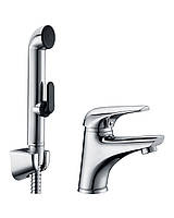 SOLNICE набор для биде (смеситель 05210 + гигиенич душ с держателем  + шланг 1,5м)
