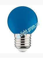 Синяя светодиодная лампа 1W E27 Horoz